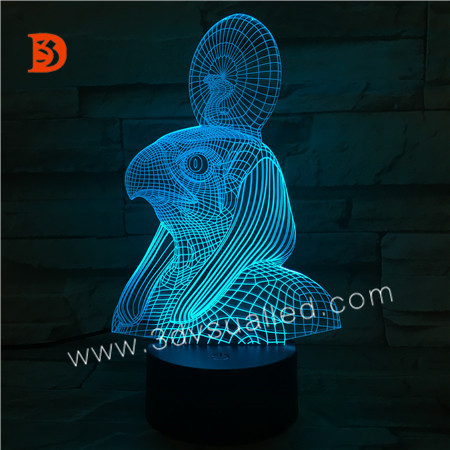 3D Illsuion Acrylic Night Light  KS 3D-320